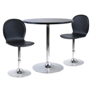 Winsome Dining Table Set with 2 Swivel Chairs