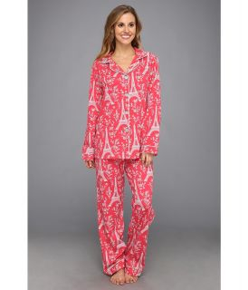 BedHead Cotton Stretch Classic PJ Womens Pajama Sets (Pink)