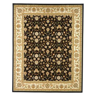 Lyndhurst Collection Traditional Black/ivory Oriental Rug (8 X 11)