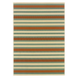 Surfside Indoor/Outdoor Area Rug   Aqua