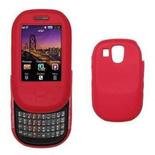 Premium Red Silicone Gel Skin Cover Case for Samsung Flight A797 [Accessory Export Packaging] Cell Phones & Accessories