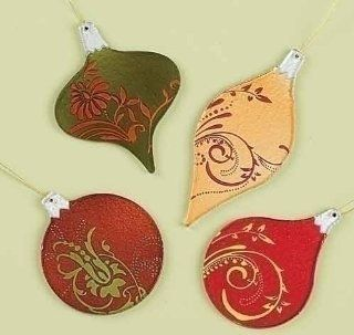 Club Pack of 24 Rejoice Stained Glass Inspired Christmas Ornaments   Decorative Hanging Ornaments