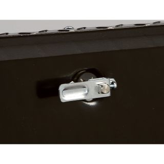 Aluminum Flush-Mount Side-Bin Truck Box — Black, 70 1/2in.L x 12 1/2in.W x 10 1/2in.H  Side Mount Boxes
