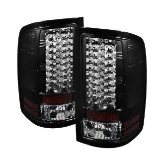 GMC Sierra 1500/2500/3500HD Denali 2007 2008 2009 2010 2011 2012 (Not fit 3500 Dually 4 Rear Wheels) LED Tail Lights   Black Automotive