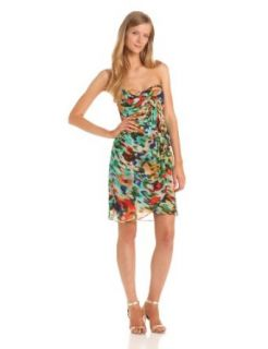 Nicole Miller Women's Strapless Abstract Print Dress Summer Dress Strapless