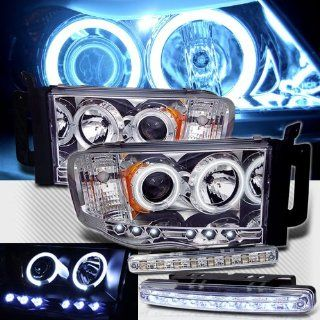 2002 2005 DODGE RAM 1500 CCFL HALO PROJECTOR LED HEADLIGHTS + 8 LED BUMPER LAMPS Automotive