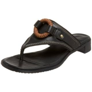 Timberland Women's Lora Ring Thong Sandal,Black,5.5 M Shoes