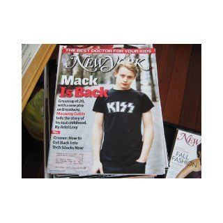 New York Magazine (MACAULAY CULKINLost Childhood, Michael Jackson, Overbearing Stage Fatner) Ariel levy Books