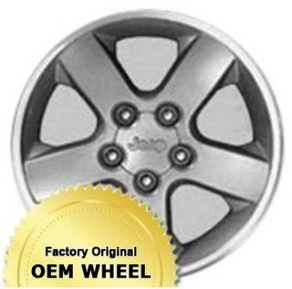 JEEP GRAND CHEROKEE 17X7.5 5 SPOKE Factory Oem Wheel Rim  MACHINED LIP GREY   Remanufactured Automotive