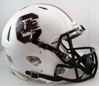 South Carolina Gamecocks Riddell Speed Revolution Full Size NCAA Authentic Football Helmet  Sports Related Collectible Full Sized Helmets  Sports & Outdoors