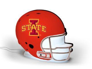 NCAA Iowa State Cyclones LED Lit Football Helmet  Sports Fan Football Helmets  Sports & Outdoors