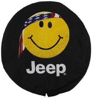 Genuine Jeep Accessories 82208686AD Cloth Spare Tire Cover with Smiley Face Logo Automotive