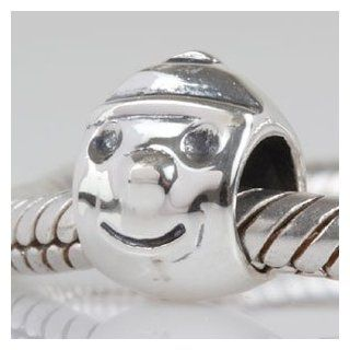 Smile Boy Authentic 925 Sterling Silver Charm Fits Pandora Charm Chamilia Biagi Troll Beads Europen Style Bracelets Jewelry