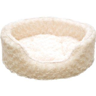 PAW Snuggle Round Comfy Fur Pet Bed, Jumbo, Cream