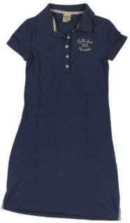 Hollister Women's Short Sleeve Polo Shirt Dress with Hollister Embroidery (Navy Blue) (Small)