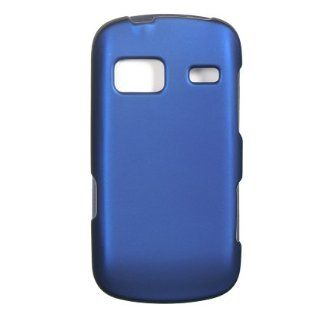 Verizon Samsung Brightside Rubberized Hard Case Cover   Blue Cell Phones & Accessories