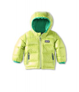 Patagonia Kids Baby Hi Loft Down Sweater Hoody Infant Toddler Lotus Green