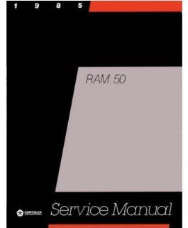 1985 Dodge Ram 50 Truck Shop Service Repair Manual Book Engine Drivetrain Wiring Automotive