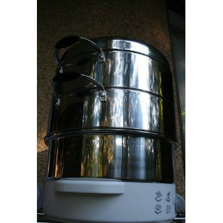 Secura 3 Tier 6 Quart Stainless Steel Electric Food Cooker Rice Steamer, w/ Steam360 technology S 324 Kitchen & Dining