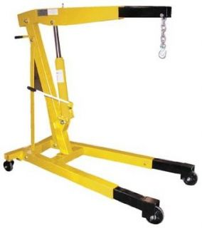 "Bear Claw Shop Crane Engine Hoist Non Foldable Telescopic Legs; Capacity 4, 000; Boom Length 60""; Boom Height 16 11/16"" to 88 3/16""""; Overall Size (W x L) 31 3/4"" x 54 1/2""; Leg Extension 18 1/2""; Net Wt. (lbs.) 340"