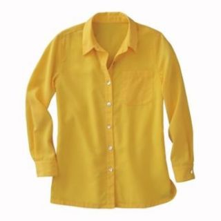 Full Length Microfiber Big Shirt Yellow Small Petite