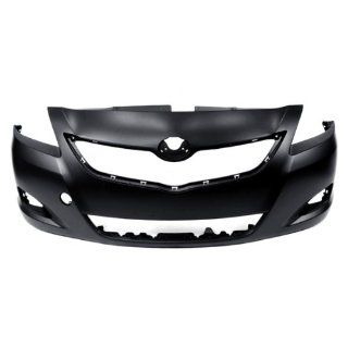 CarPartsDepot, CAPA Certified Unpainted Front Bumper Cover Replacement Assembly Primered Black, 352 44813 10 CA TO1000321 5211952934 Automotive