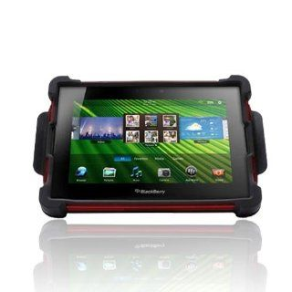 KarenDeals for Blackberry Playbook OEM Ballistic Tough Jacket Hard Silicone Case Cover Stand SA0597 M355 Red Black Cell Phones & Accessories