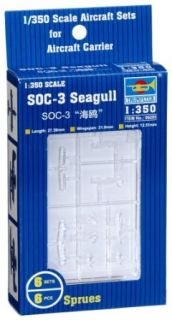 Trumpeter 1/350 SOC3 Seagull Scout Aircraft Set for Warships (6 Box) Toys & Games