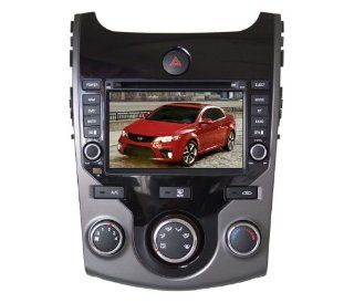 Eagle for 2010 2012 KIA Forte Car GPS Navigation DVD Player Audio Video System with Radio (AM/FM), Bluetooth Hands Free, USB, AUX Input, (free Map), Plug & Play Installation  In Dash Vehicle Gps Units