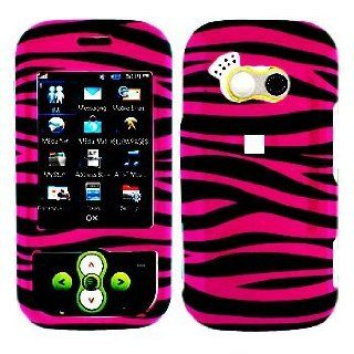"LG Neon GT365 ""PDA"" Cell Phone Hot Pink/Black Zebra Design Protective Case Faceplate Cover Cell Phones & Accessories"