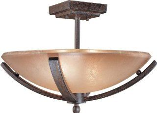 Minka Lavery 1184 357 2 Light Semi Flush Ceiling Fixture from the Raiden Collection, Iron Oxide   Close To Ceiling Light Fixtures