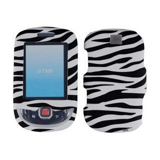 For T Mobil Samsung T359 Smiley Accessory   White Black Zebra Designer Hard Case Cover Cell Phones & Accessories