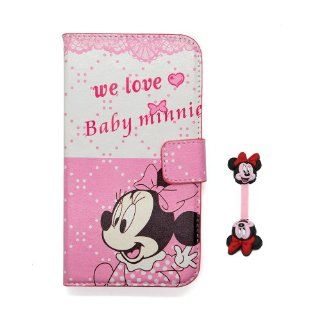 Euclid+   Light Pink Minnie Mouse Style Leather Case Cover for Samsung Galaxy Mega I9200 with Minnie Mouse Style Cable Tie Cell Phones & Accessories