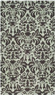 Safavieh Chelsea Collection HK368C 4 Hand Hooked Sage and Chocolate Wool Area Rug, 3 Feet 9 Inch by 5 Feet 9 Inch