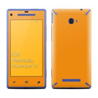 Solid State Orange Design Protective Decal Skin Sticker (Matte Satin Coating) for HTC Windows 8X Cell Phone Cell Phones & Accessories
