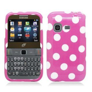 [Buy World, Inc] for Samsung S390g (Tracfone/straight Talk/net10) Polka Dots Image, Light Pink+white Cell Phones & Accessories