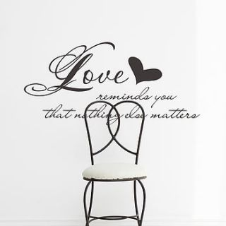 'love reminds you' scripture wall sticker by snuggledust studios