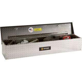 Aluminum Flush-Mount Side-Bin Truck Box — Diamond Plate, 48 1/2in.L x 12 1/2in.W x 10 1/2in.H  Side Mount Boxes