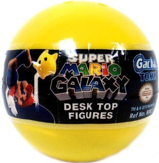 Tomy Gashopan Super Mario Galaxy Mini Desk Top Action Figure PVC Blind Pack Toys & Games