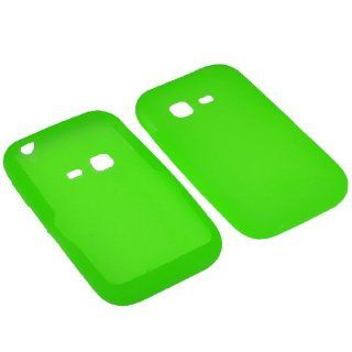 BW Silicone Sleeve Gel Cover Skin Case for Tracfone, Net 10, Straight Talk Samsung S390G Neon Green Cell Phones & Accessories
