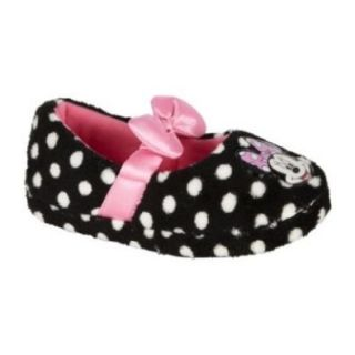 Disney Minnie Mouse Polka Dot Pink Bow Toddler Girls Slippers Size 11/12. Mickey Mouse Clubhouse. Shoes