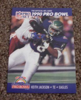 1990 Pro Set Keith Jackson # 396 NFL Football Pro Bowl Card  Sports Related Merchandise  Sports & Outdoors