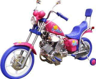 GIRLS PINK ELECTRIC RIDE ON HARLEY Motorcycle Power Wheels Car Toys & Games