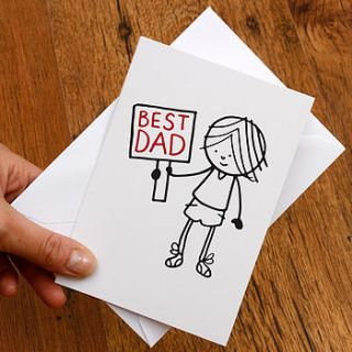 best dad illustrated fathers day card by a is for alphabet