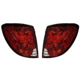 2003 2007 Saturn Ion 2 Door Coupe Tail Lamp Brake Light Taillight Taillamp Pair Set Right Passenger AND Left Driver Side (2003 032004 04 2005 05 2006 06 2007 07) Automotive