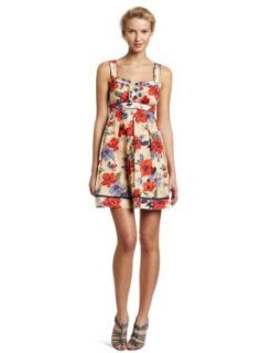 Jessica Simpson Women's Ruffle Front Tank Dress, Vintage Floral, 2