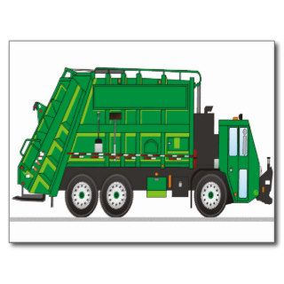 Garbage Truck Post Cards