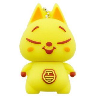 Cartoon Qute High Quality 16gb USB Flash Drive Memory  Yellow cat Computers & Accessories