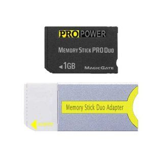 Pro Power 1GB Storage Memory Stick PRO DUO for Sony PSP and Sony Digital Camera / Camcorder Cybershot DSC T1 T5 T7 T11 T33 H2 H5 T30 W100 W30 W50 W70 Handycam DCR HC36 HDR HD3 and all other that use MSPD card Computers & Accessories