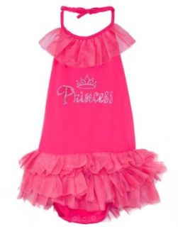 "Baby Boutique� Girl's Toddler Pink ""Princess Tutu"" Romper, Size 3T Clothing"